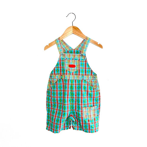 Vintage 90's Bright Checked Next Dungarees (Approx 2/3y)