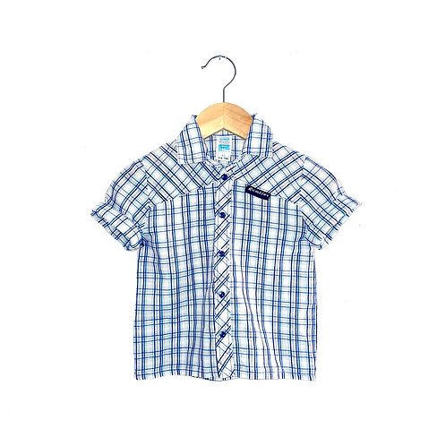 Lightweight Vintage Checked Short Sleeved Cotton Shirt (3/4y)