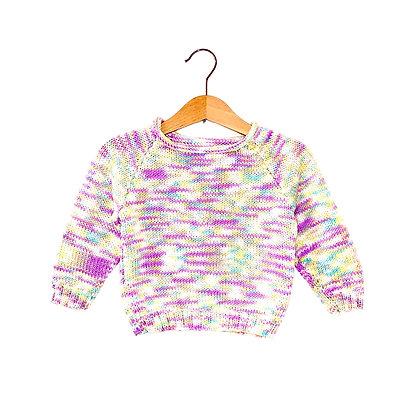 Hand Knit Pastel Super Soft Jumper (9-12m+)