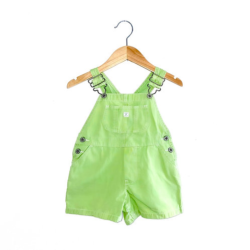 Vintage 90's Gap Lime Green Dungarees (approx 3y)