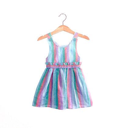 Lovely Linen Summer Pastel Dress (18-24m)
