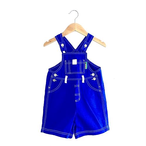 Bright Blue Vintage Shorts Dungarees (2/3y)