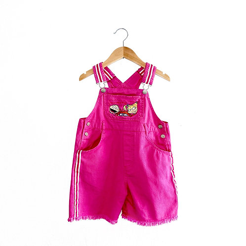 Amazing Vintage Pink Rugrats Dungarees (7/8y)