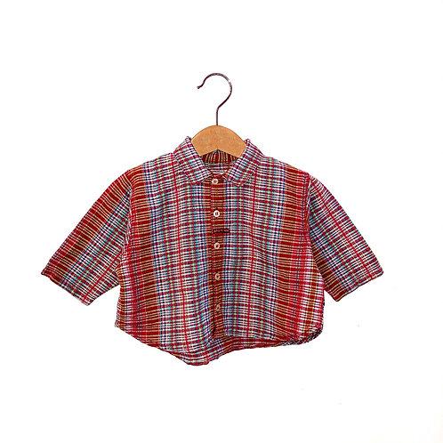 Vintage Mini-Man Checked Shirt (6/12m)