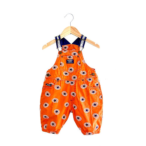 Vintage Vibrant Orange Star Print Oshkosh Dungarees (1/2y+)