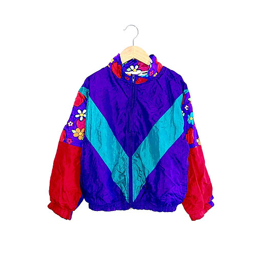 Jazzy Vintage Shell Jacket with Floral Details (8/10y)