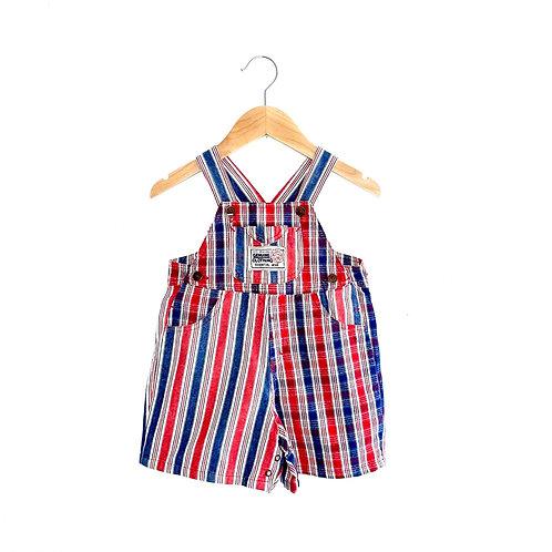 Vintage Check/Stripe Shorts Dungarees (18/24m+)