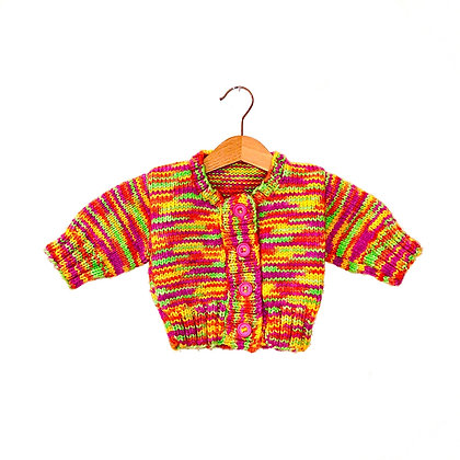 Hand Knit Neon Baby Cardigan (approx 3m)