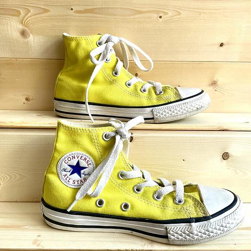 Yellow Hi Top Converse (UK12.5/EU31)