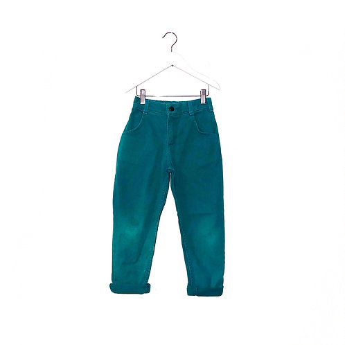 """Vintage Oshkosh Turquoise Jeans (W21/24"""" L18"""" Approx 4/5y)"""