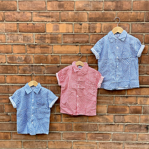 TWINNING: Vintage 70's Checked Unworn Deadstock Shirts (4/6y)