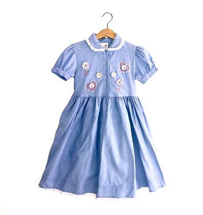Pretty Vintage Chambray Dress (5/6y)