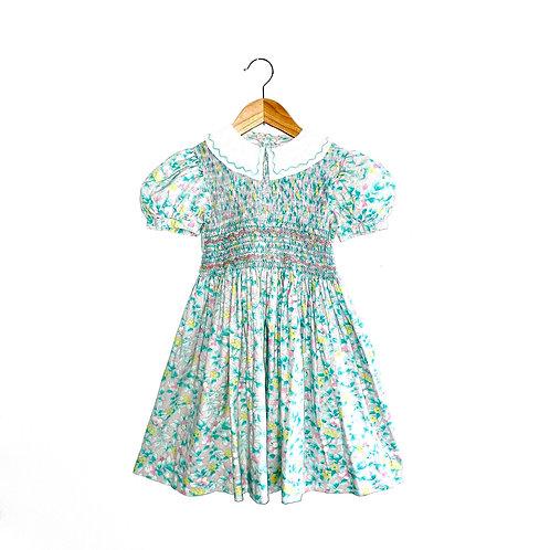 Gorgeous Vintage Floral Smocked Dress (5/6y+)