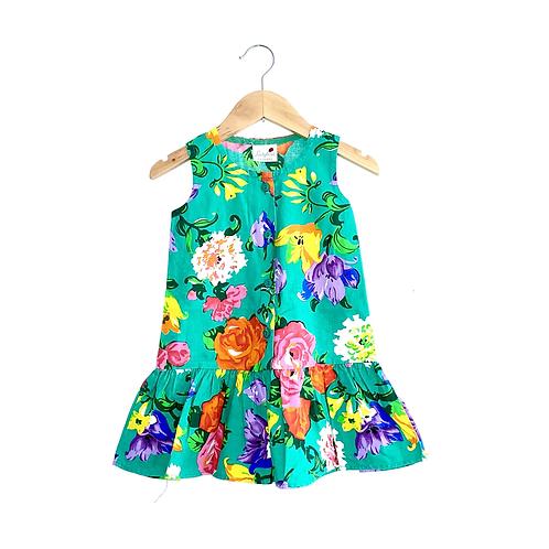 Vintage Floral Drop Waist Dress (3/4y)