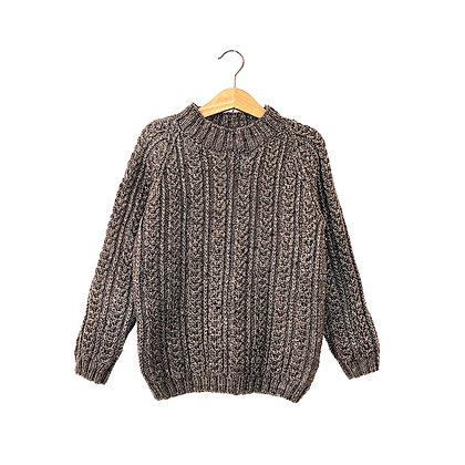 Chunky Grey Cable Knit Jumper  (4-6y)