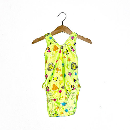 Neon Vintage Patterned Swimming Cossie (3/4y)