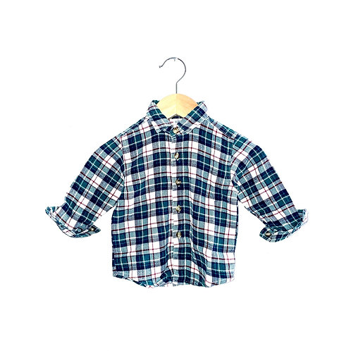 Vintage Brushed Cotton Green Checked Shirt (6/9m+)