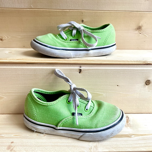 Green Lace-up Vans