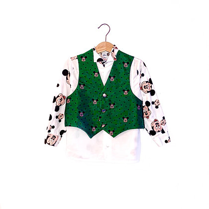 Vintage Mickey Mouse Shirt and Waistcoat (3/4y)