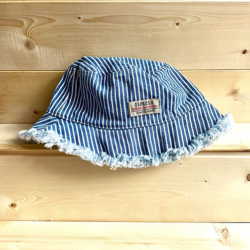 Vintage Oshkosh Frayed Hem Bucket Hat (0/9m)