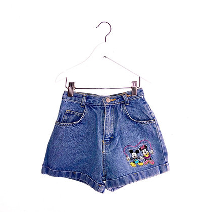 Vintage Mickey and Minnie Denim Shorts (Approx 6-8y)