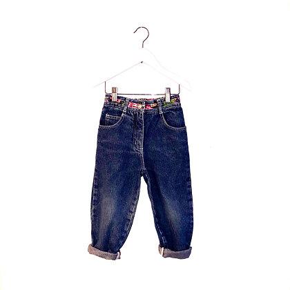 Vintage Floral Trim Jeans (2/4y - see measurements)