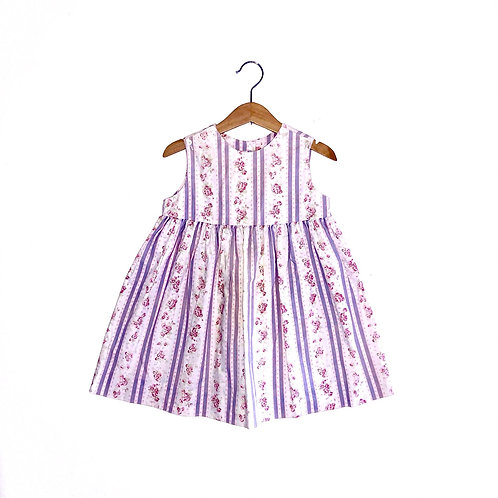 Pretty Pastel Vintage Floral Laura Ashley Sleeveless Dress (2y)