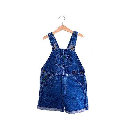 Tartan Trim Vintage Oshkosh Shorts Dungarees (6y)