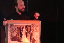 Hamelin, théatre de papier avec fred lavial conteur