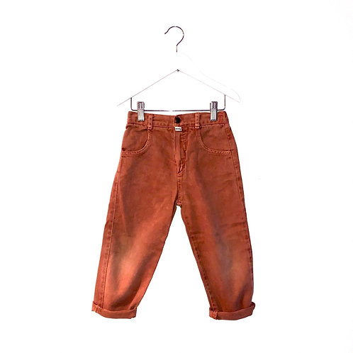"""Vintage Rust Coloured Guess Jeans (W20-22"""" L15"""" Approx 4y)"""