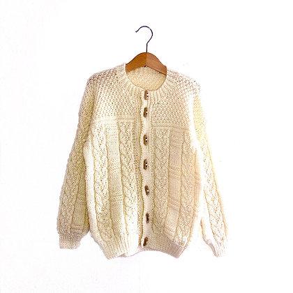 Arran Hand Knit Cream Cardigan (approx 6y+)