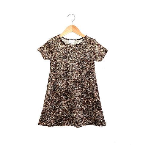 Ace 90s Leopard Print Velour Dress (4/6y)