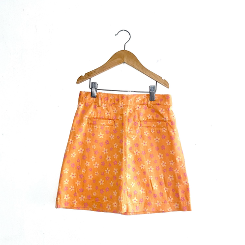 Cute Vintage Floral A-Line Skirt (7/9y)