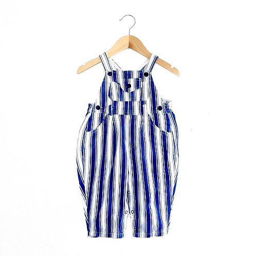 Vintage Navy/White Striped Dungarees (12/18m+)
