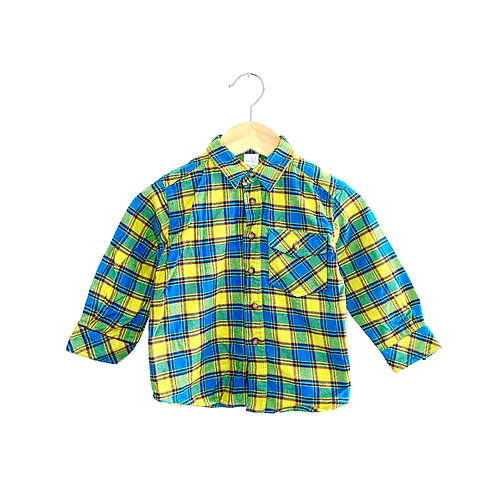 Ace Vintage Bright Brushed Cotton Checked Shirt (1.5/2y or 2/3y)