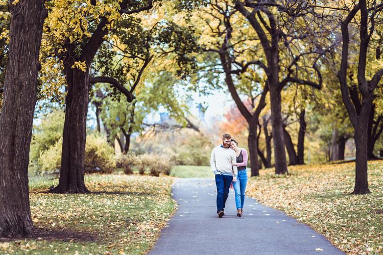 Engagement Walking - Chicago