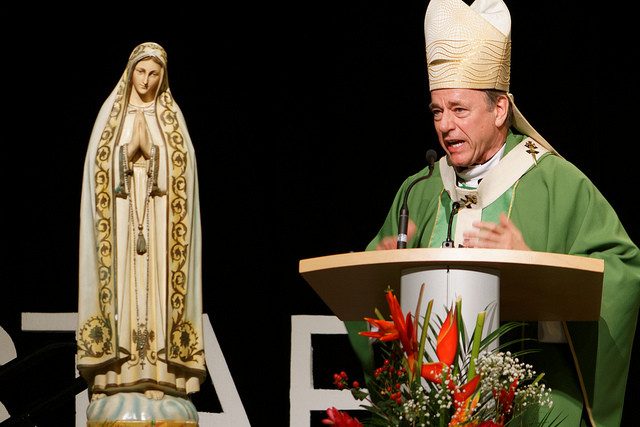 Archbishop Miller says mass at the Conference