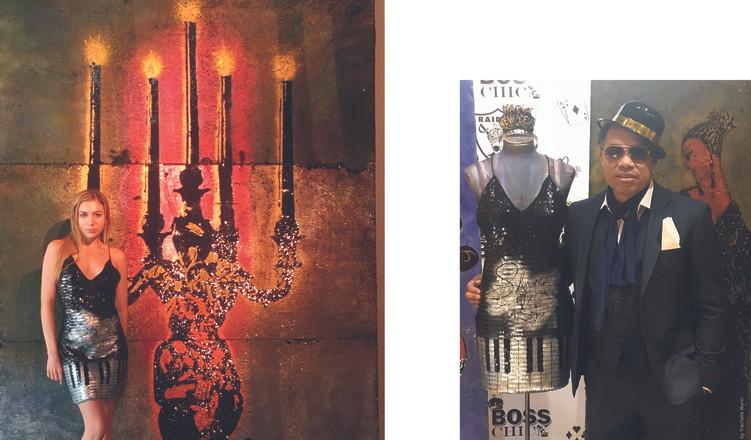 Liberace inspired sequin dress