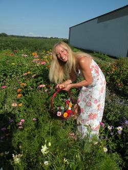 Deborah Basket Of Flower Field