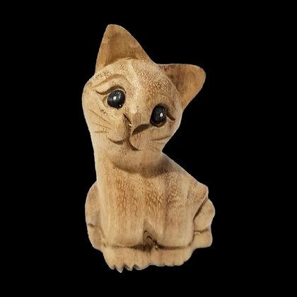 "4"" Waiting Cat Statue (Facing right)"
