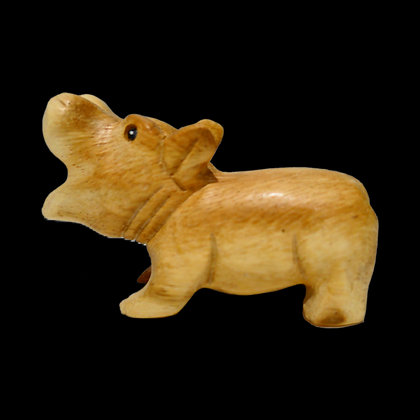 "4"" Wooden Hippo"