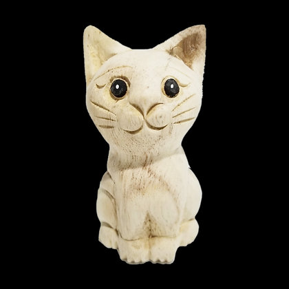 "4"" Waiting Cat Statue (Facing Front)"