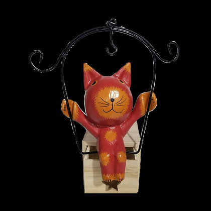 Cat on a Swing