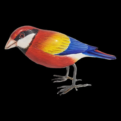 Red Bird Hand Painted