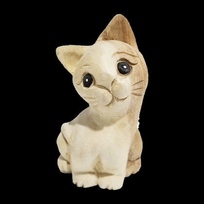 "4"" Waiting Cat Statue (Facing Left)"