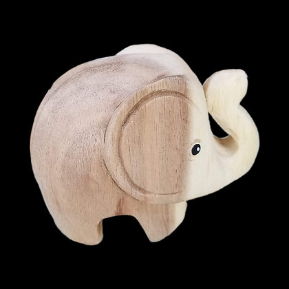 Wooden Love Elephant