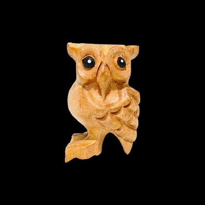"""2"""" Wooden Owl"""