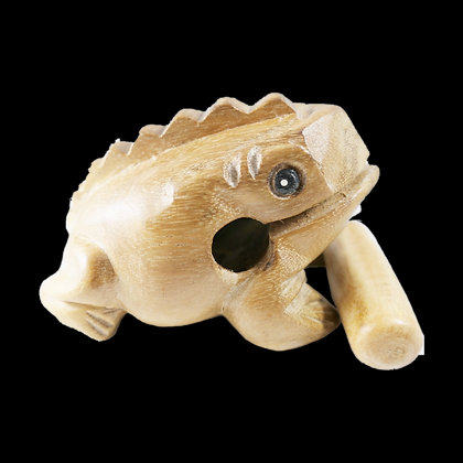 """4"""" Wooden Frog"""