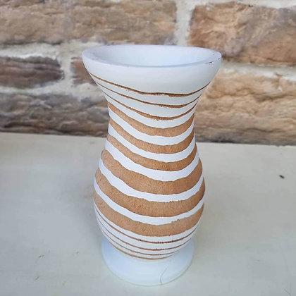 White Wooden Vase 2