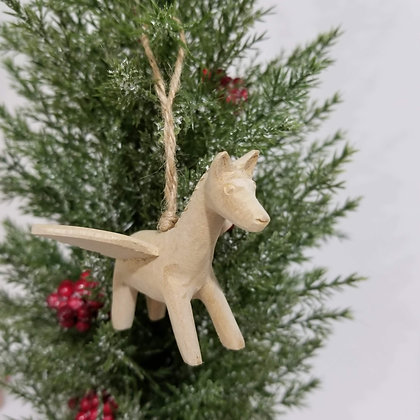Christmas Ornament Angel Horse